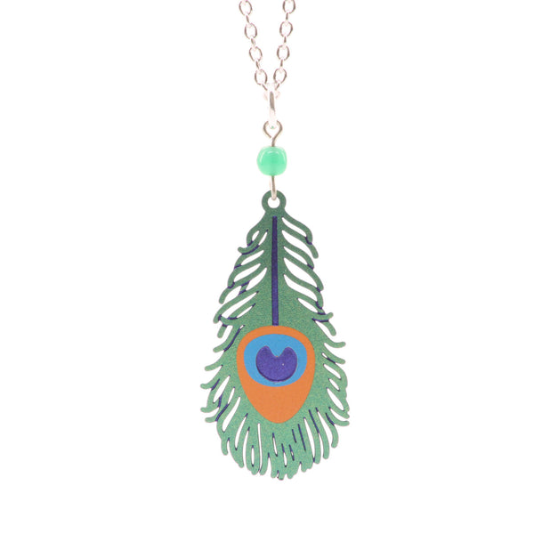 Sienna Sky Peacock Feather Necklace - ArtsiHome