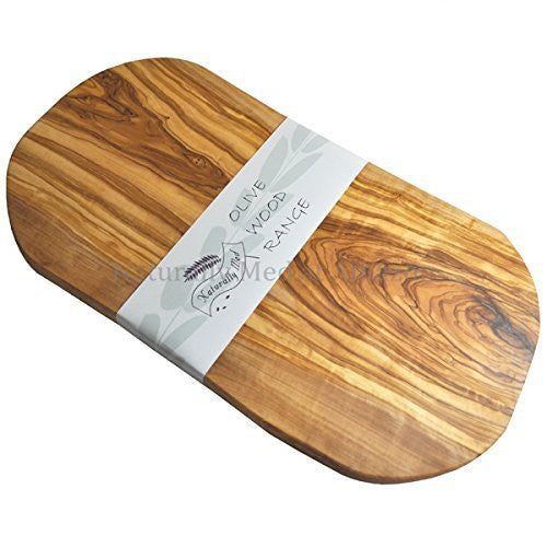 Naturally Med - Olive Wood Cutting Board / Cheese Board - 18 Inch - ArtsiHome