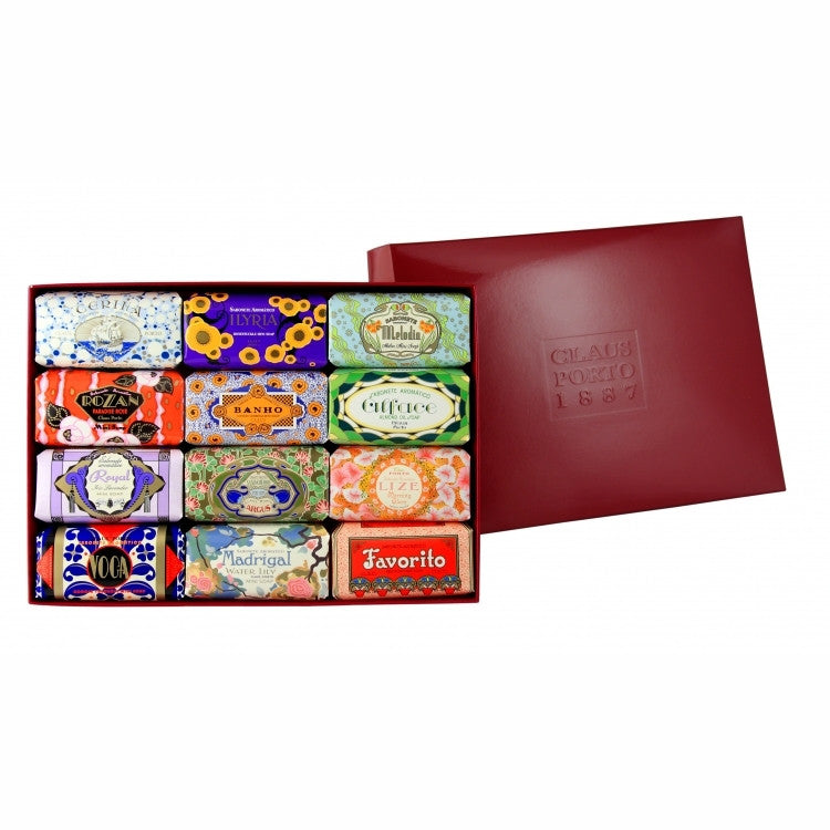Claus Porto Gift Box of 12 Mini Soaps - ArtsiHome
