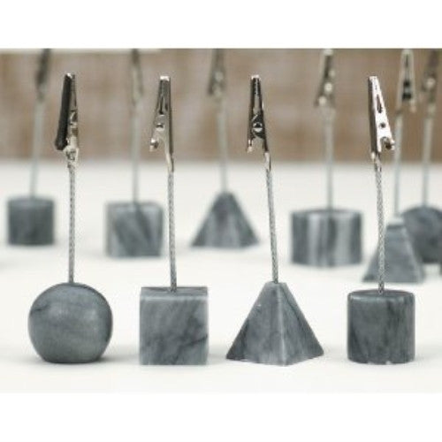 Set of 12 Assorted Grey Marble Recipe/Photo Clips - ArtsiHome