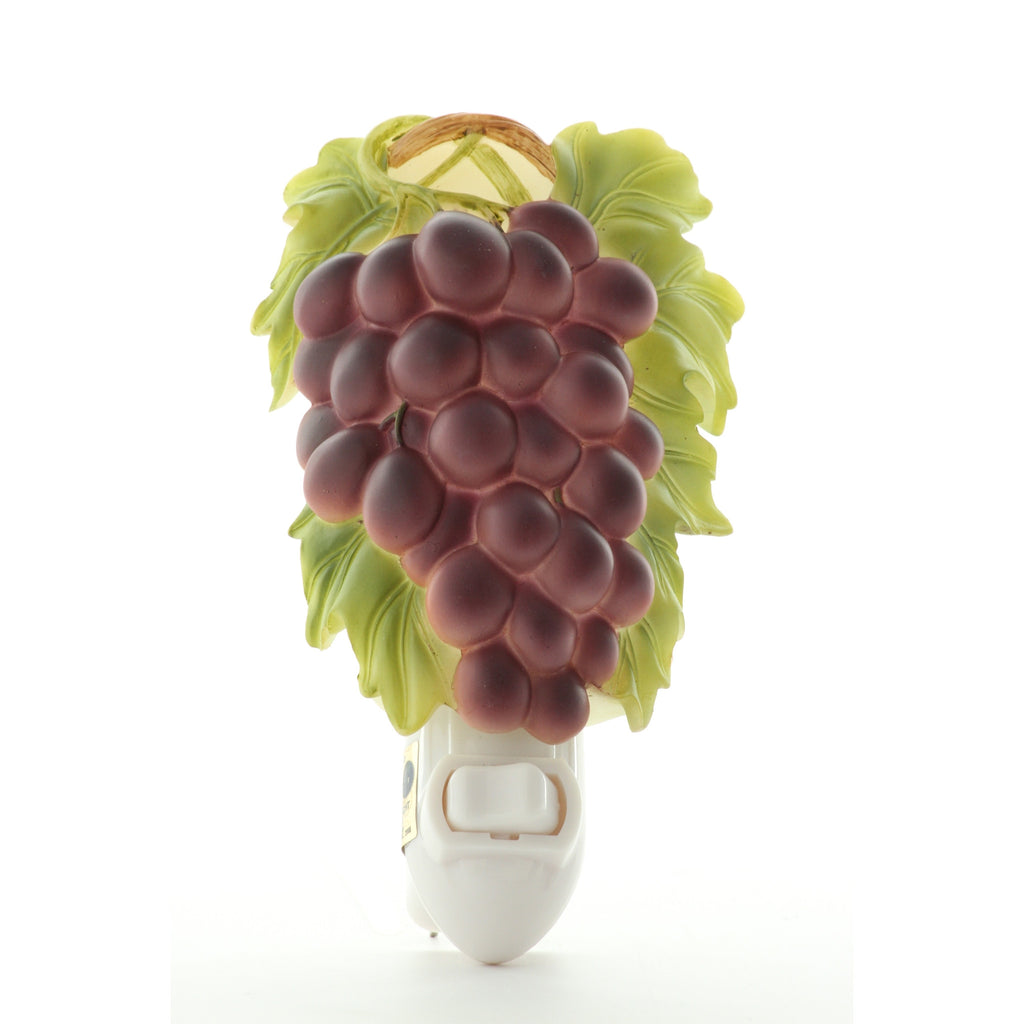 Purple Grapes Night Light, Ibis & Orchid Nightlights, NIB, 50055 - ArtsiHome
