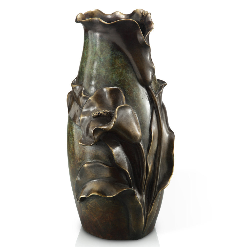 SPI Home Collection Brass Flower Vase - ArtsiHome