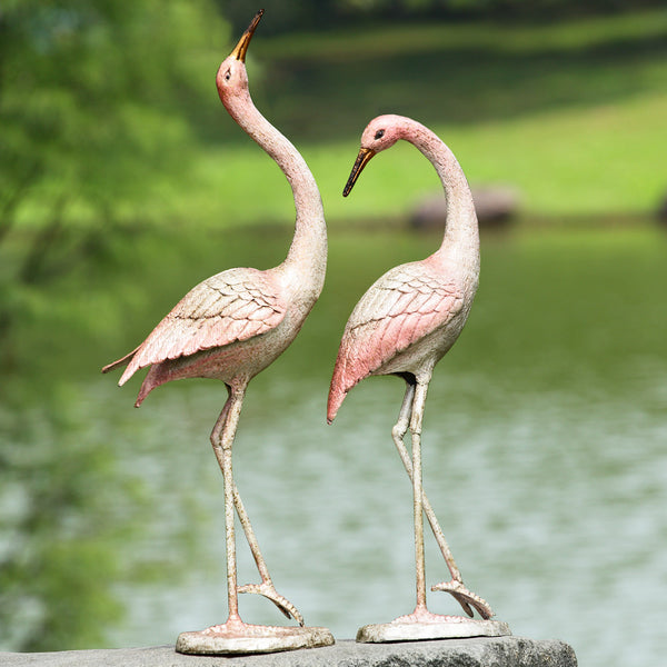 SPI Garden Collection -Flamboyant Cranes Garden Statue (Pair) - ArtsiHome - SPI Home