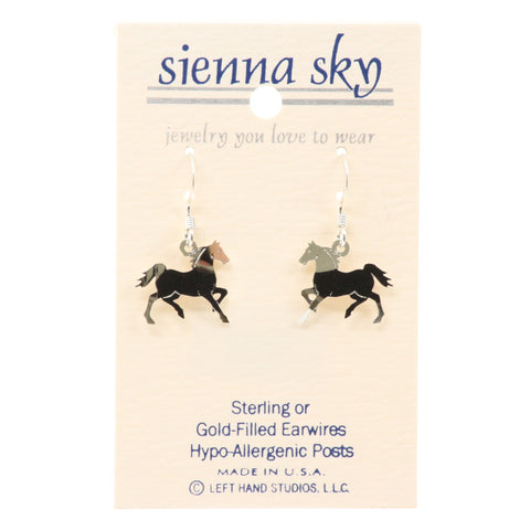 Sienna Sky Prancing Polished Horse Earrings - ArtsiHome