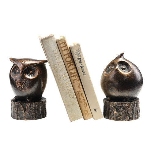 Wide Eyed Owl Bookends - ArtsiHome - SPI Home
