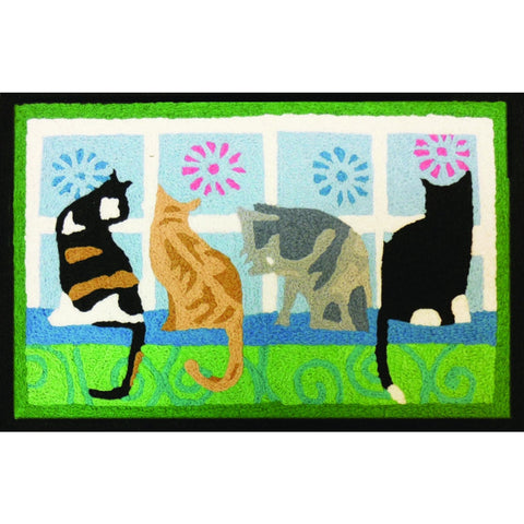 Jellybean Kitties In The Window Accent Area Rug - ArtsiHome