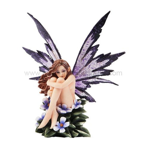 *New* 2013 Amy Brown Fantasy Periwinkle Flower Fairy Statue Enchanted 6h Figurine - ArtsiHome