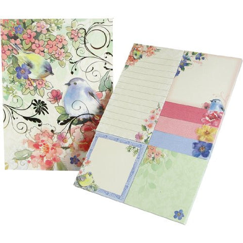 Molly & Rex Bluebird Sticky Note Set in Folder - ArtsiHome