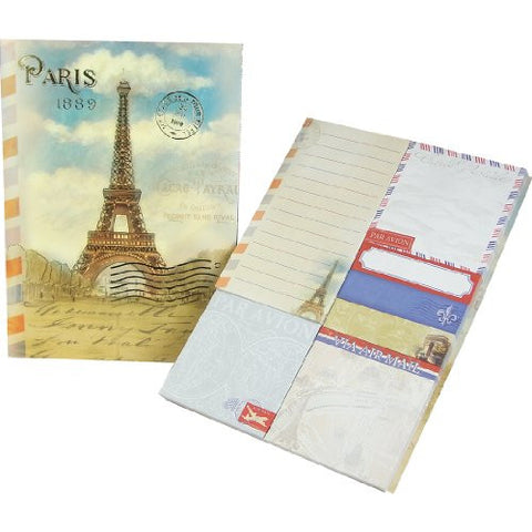 Molly & Rex Eiffel Tower Sticky Note Set in Folder - ArtsiHome