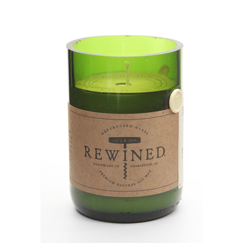 Rewined Recycled Wine Bottle Soy Wax Candle w/ Champagne Scent - ArtsiHome