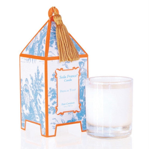 Seda France Pagoda Candle - French Tulip (10 oz) - ArtsiHome