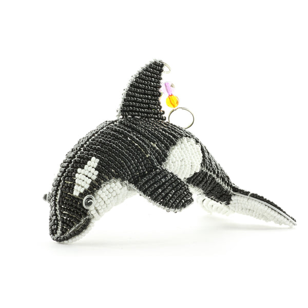 Orca Whale Beaded Sculpture - ArtsiHome