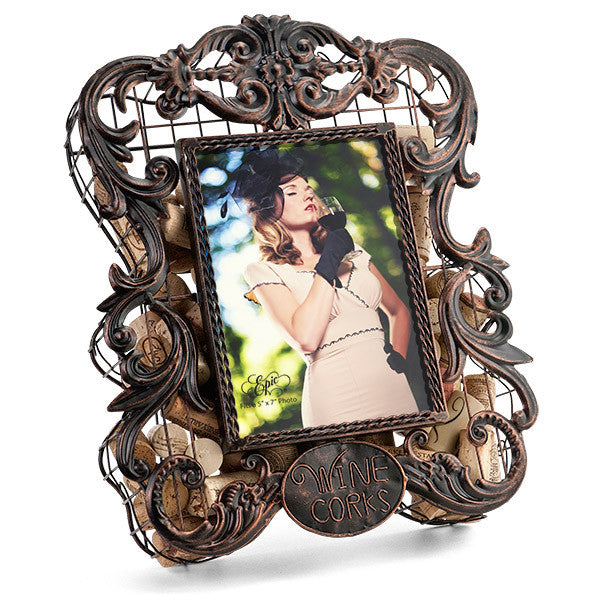 Hand-Crafted Metal Photo Frame Cork Saving Cage - ArtsiHome