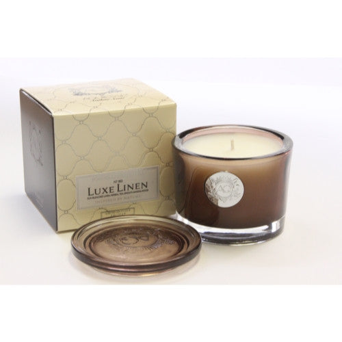 Aquiesse - Lux Linen Small Soy Candle - Portfolio Candle Collection. - ArtsiHome