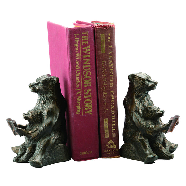 Bear Bookends - Mom and Cub Reading Lesson - ArtsiHome