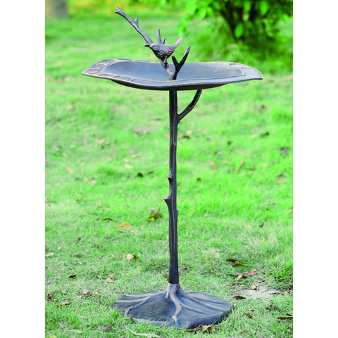 SPI Garden Collection Bird on Branch Sun Dial and Bird Bath - ArtsiHome