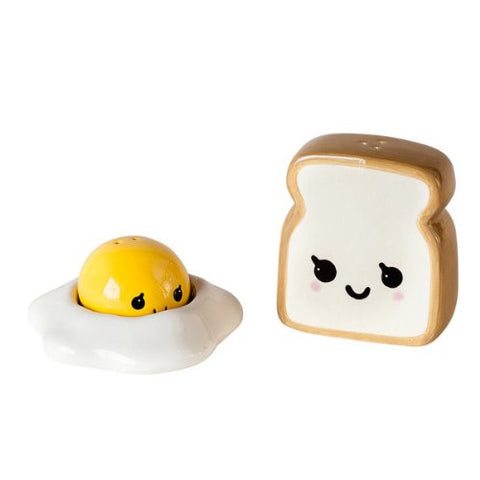 Egg/Toast, Salt & Pepper, Gift Box, Ceramic, 2.5in - ArtsiHome