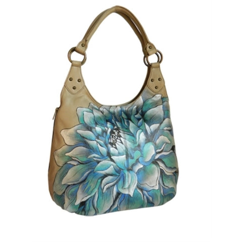 UnAssigned Genuine Leather Handbag - Dreamy Dahlias w/ 11.5