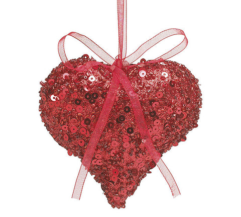 Burton & Burton Valentines Day Heart Ornaments (Red) - ArtsiHome