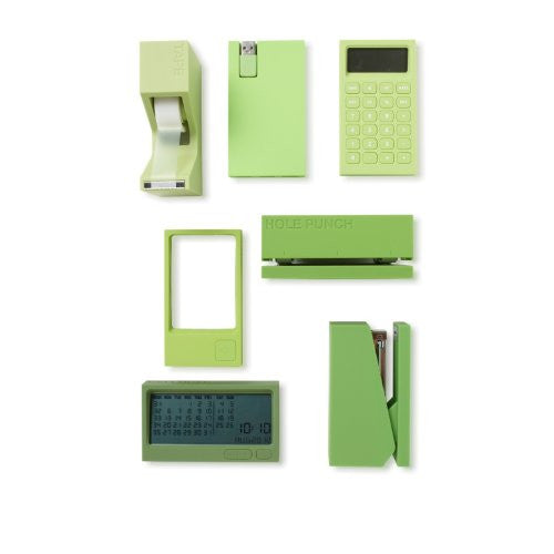 Lexon Buro Desk Accessories, Green Complete Set - ArtsiHome