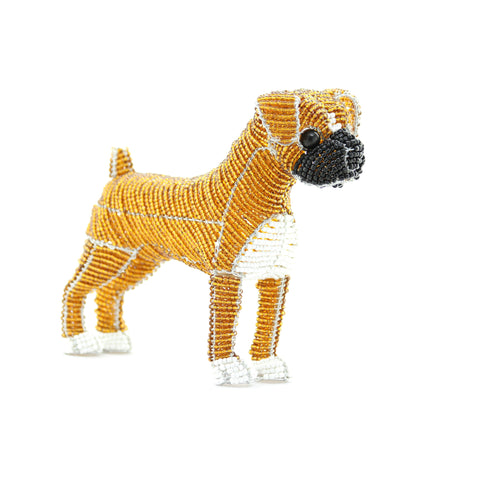 Grass Roots Creations Beaded Dog Sculpture (Fawn Color) - ArtsiHome
