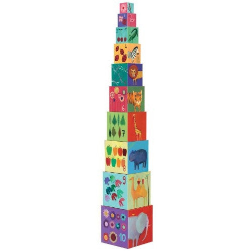 Djeco Nature & Animal Blocks - 10 Stacking Blocks - ArtsiHome