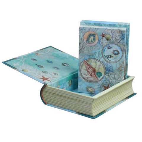 Punch Studio Seascape Notecards in Keepsake Book Box - ArtsiHome