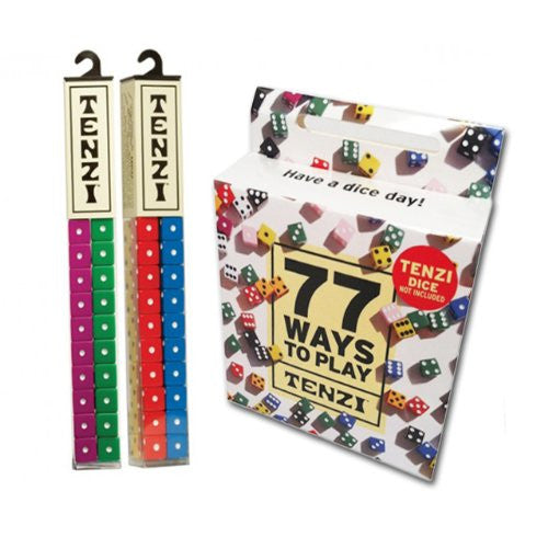 Tenzi 2 Pack for 8 Players - 8 Sets of Ten Dice with Bonus 77 Ways to Play Tenzi - ArtsiHome