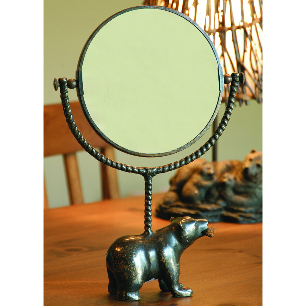 SPI Swivel Mirror with Sculpted Bear Base - ArtsiHome - SPI Home