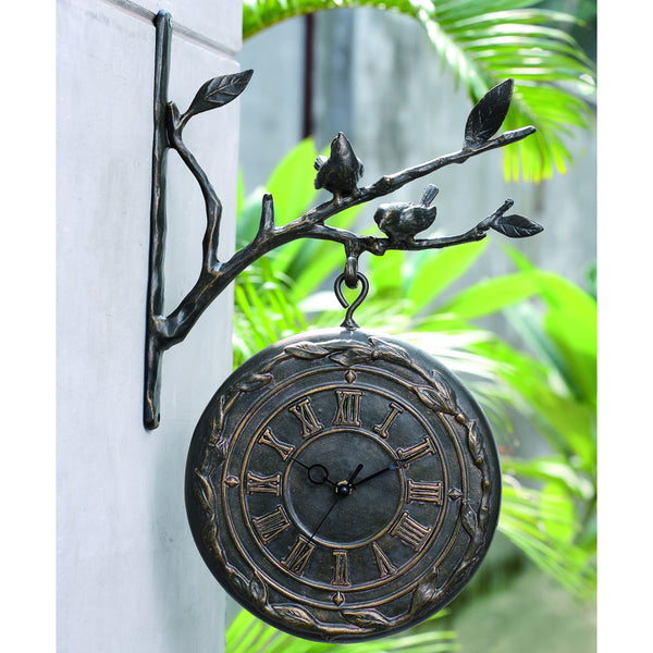 SPI Home & Garden Collection Bird on Branch Clock & Thermometer - ArtsiHome
