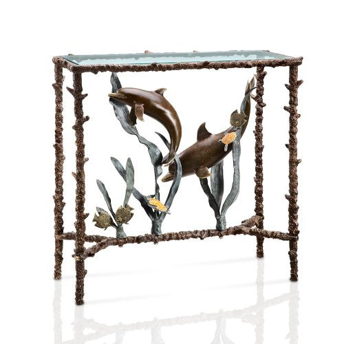 SPI Collection - Dolphin Duo Lobby Table - ArtsiHome