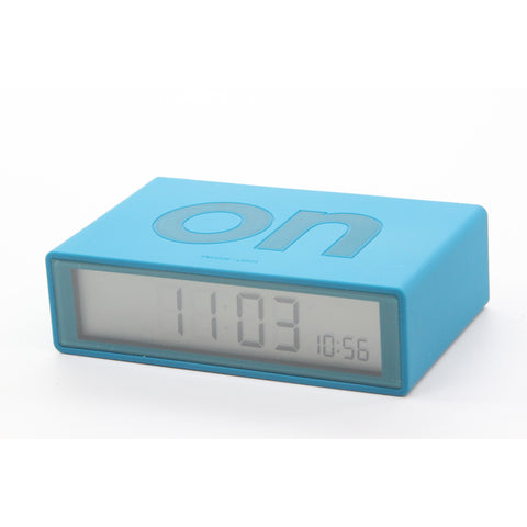 Lexon Flip On/off Alarm Clock Blue - ArtsiHome