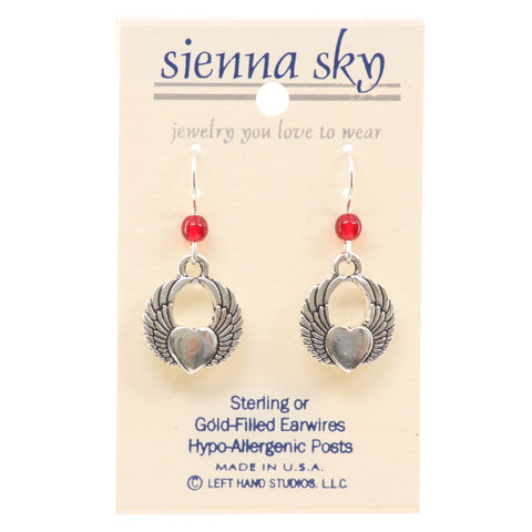 Sienna Sky Winged Heart Earrings - ArtsiHome