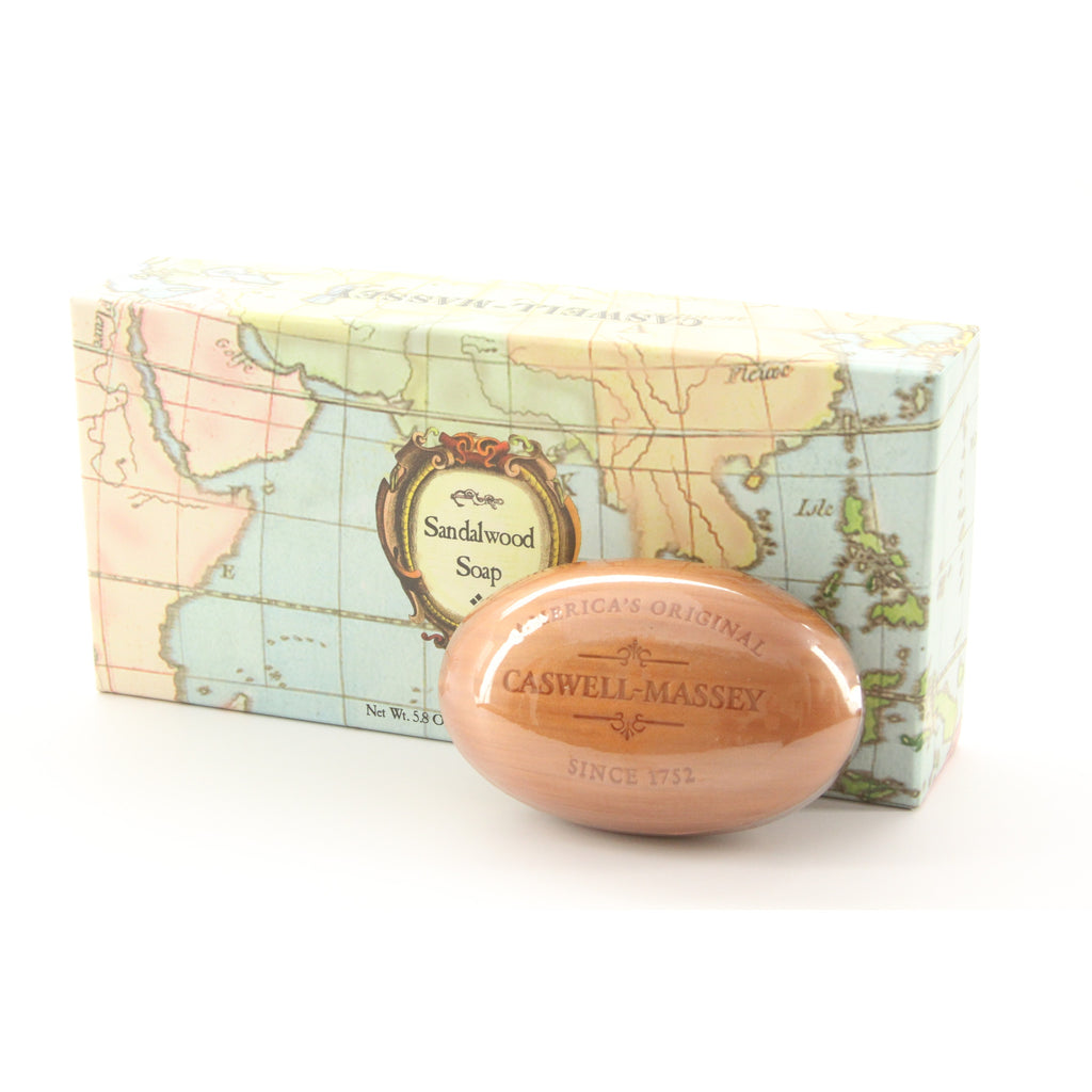 Caswell-Massey Sandalwood Woodgrain Soap Set (3 Bars) - ArtsiHome