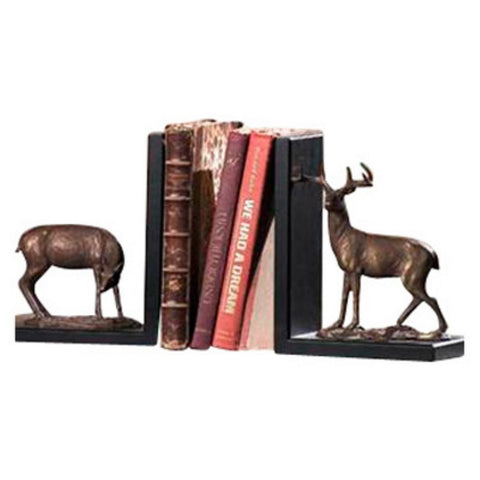 SPI Brass and Bronze Deer Bookends - ArtsiHome