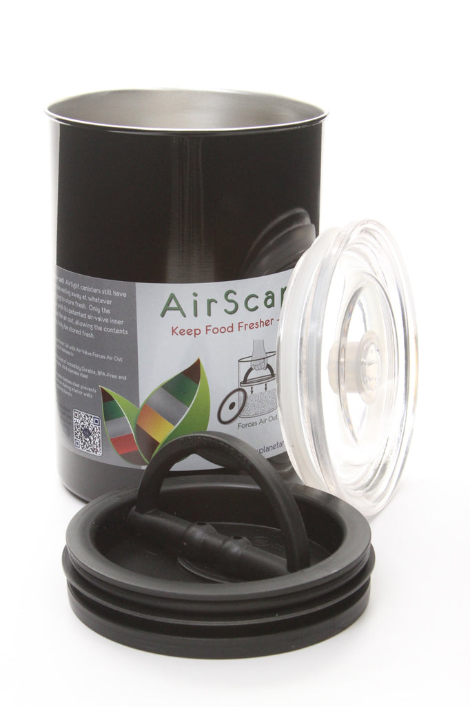 Planetary Design Airscape Food Storage Container (64oz, Black) - ArtsiHome