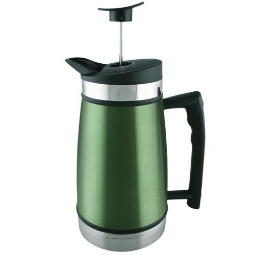 Planetary Design Table Top Stainless Steel French Presses 48oz Green Tea - ArtsiHome