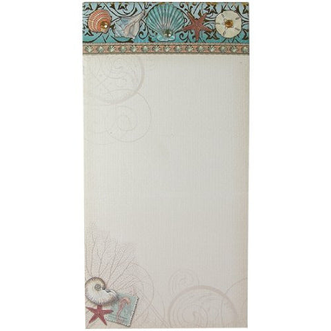 Punch Studio Seashell Embellished Magnetic List Pad with Jewels - ArtsiHome - Punch Studio - 1