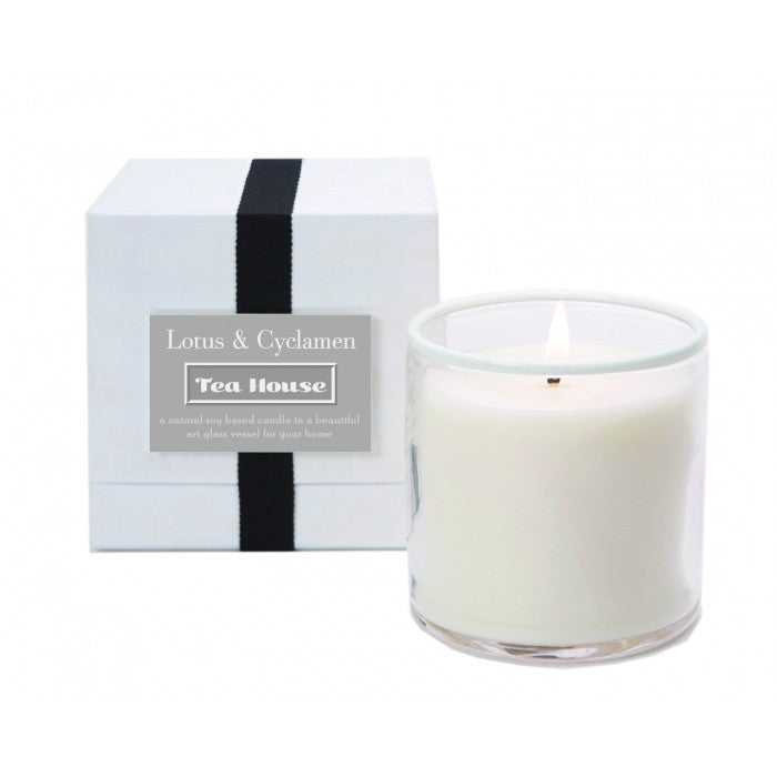 Lafco Tea House Soy Wax Candle - Lotus And Cyclamen (16 oz) - ArtsiHome