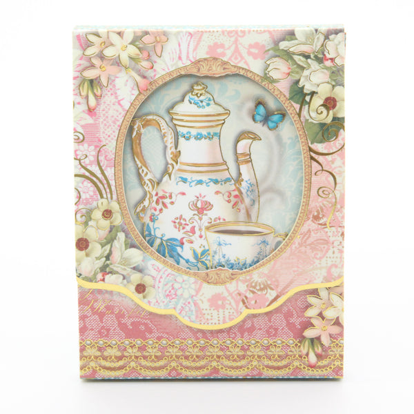Punch Studio Die-Cut Window Pocket Note Pads-Tea Time 59668 - ArtsiHome