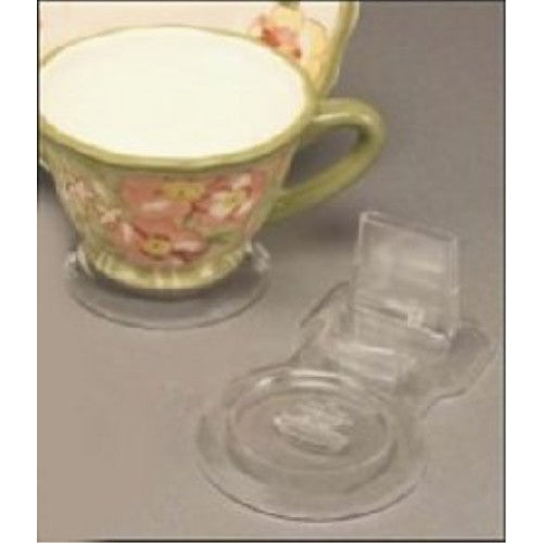 Tea Cup & Saucer Stands, Acrylic, Clear, Dozen [Kitchen] - ArtsiHome
