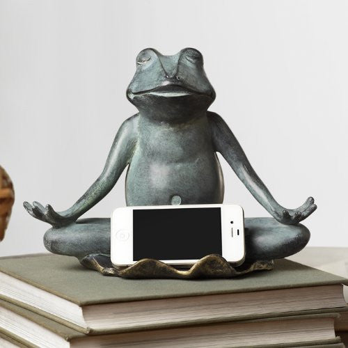 SPI Yoga Frog Statue Cellphone Holder [Wireless Phone Accessory] - ArtsiHome