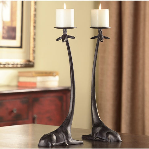 SPI Home Collection Aluminum Sitting Giraffe Candleholder (Pair of Two) - ArtsiHome
