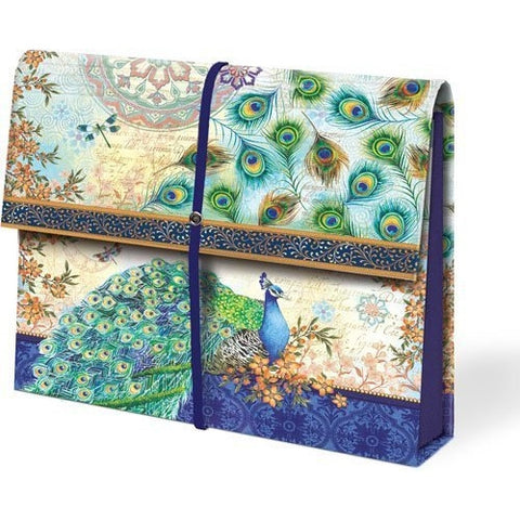 Punch Studio Royal Peacock Expandable Accordion File - ArtsiHome