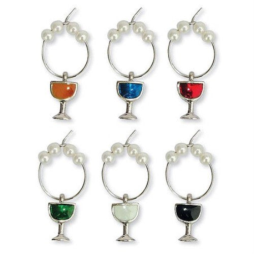 Colored Wine Glass Charms - ArtsiHome