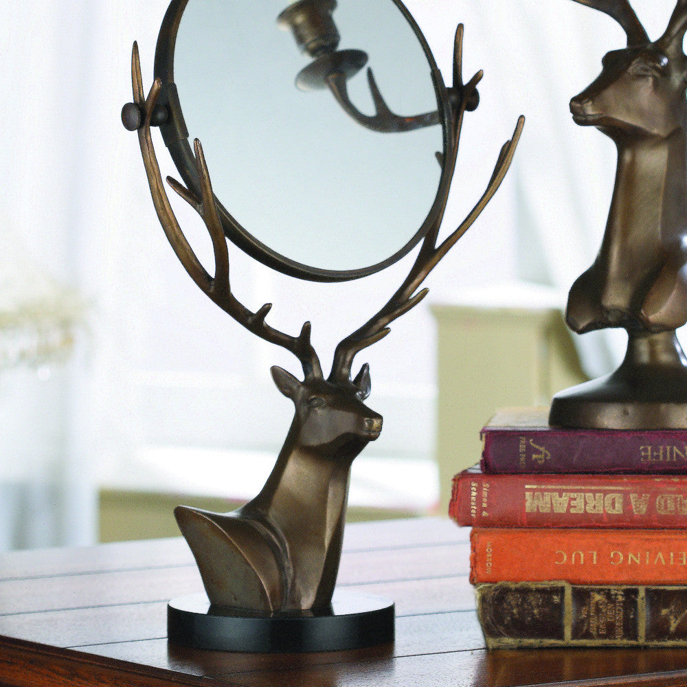 SPI Deer Swivel Mirror for Home Decor - ArtsiHome