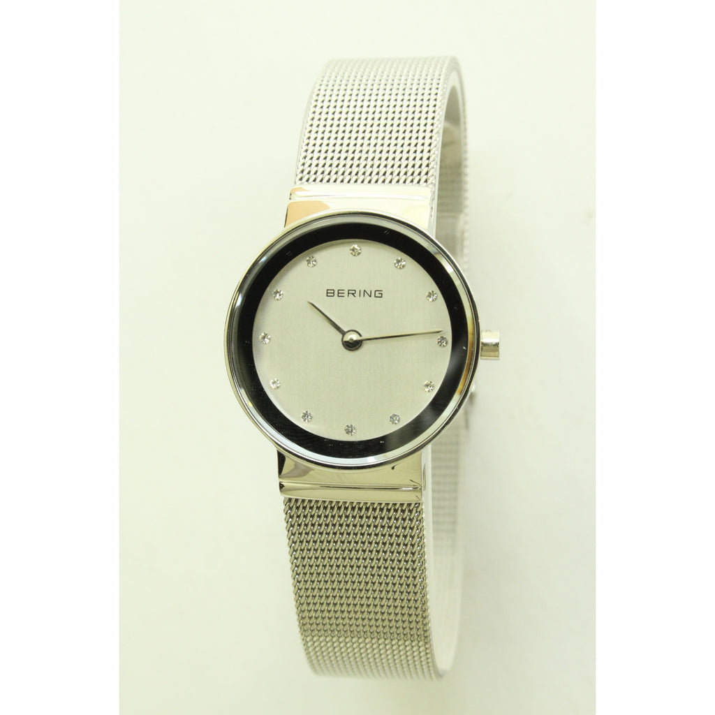 Bering Ladies Silver Mesh Watch - ArtsiHome