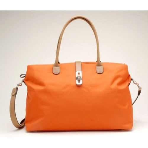 Oversized Tosca Tote Handbag - Choice of Colors,One Size,Dark Orange - ArtsiHome