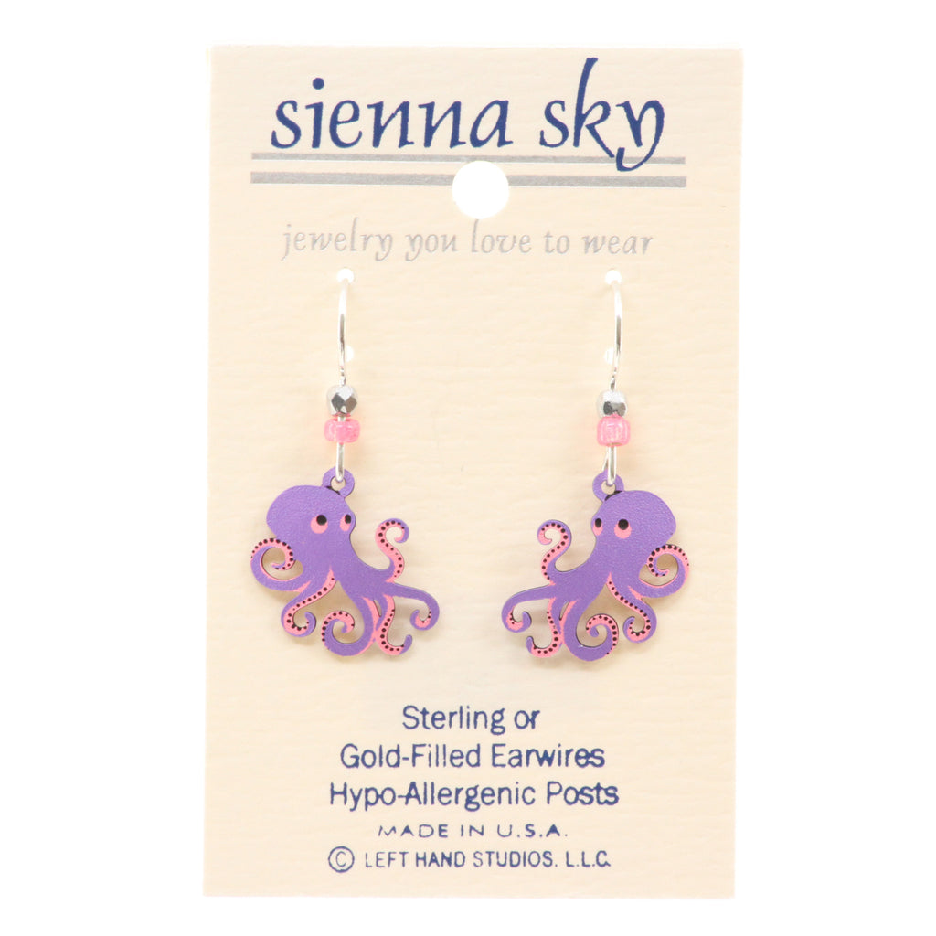 Sienna Sky Octopus Earrings - ArtsiHome