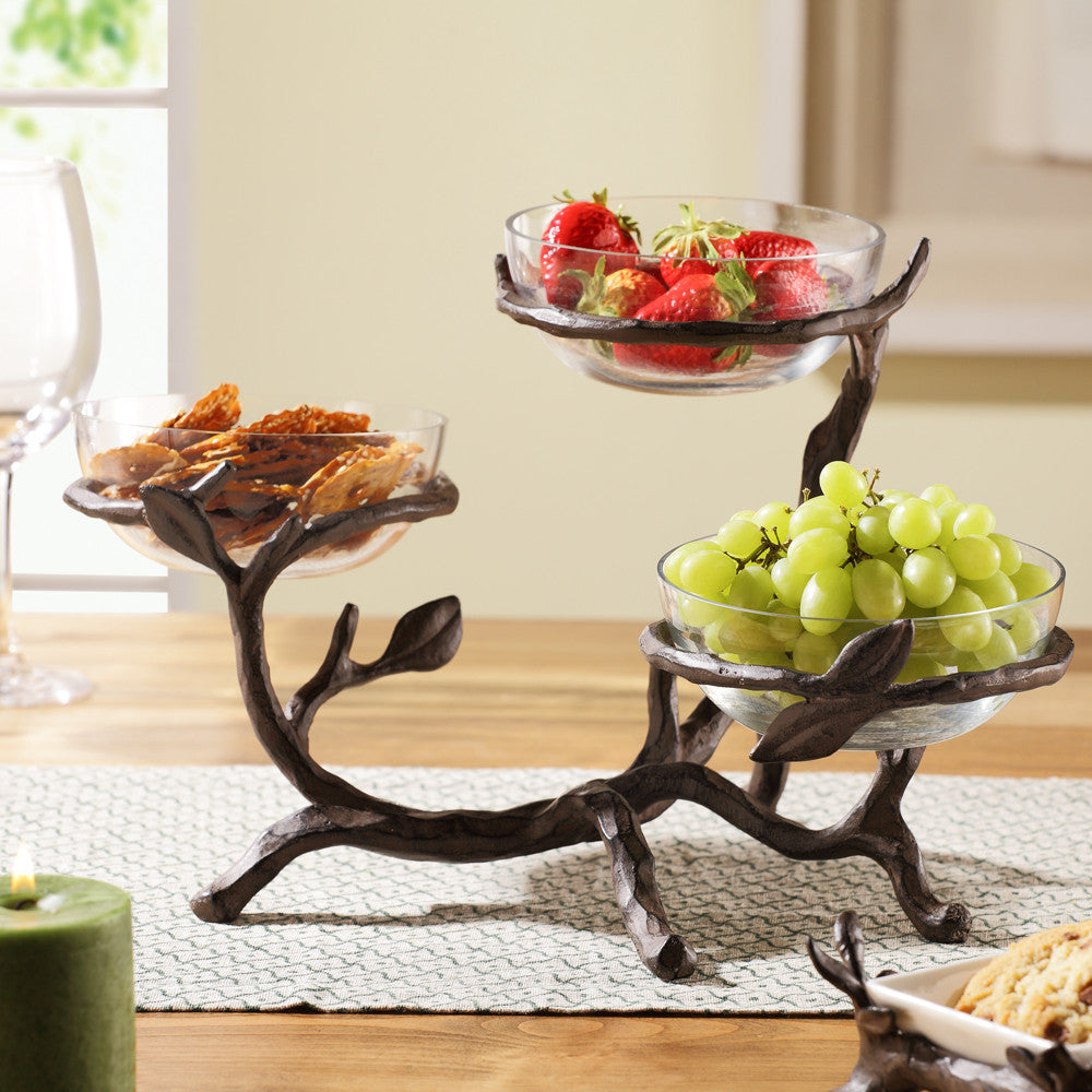 SPI Twig Collection Glass Bowl Holder - ArtsiHome